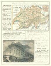 International Map - Switzerland - Monteith 1882 - 23 x 29.67