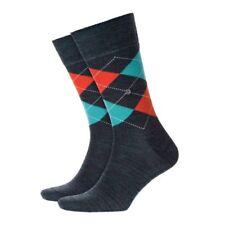 BURLINGTON Men's Argyle Socks Wool Mix 21183 Edinburgh Charcoal 7373 UK 6.5 - 11
