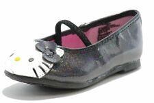 Hello Kitty Toddler Girl's Fashion Ballet Flats HK Lil Abbey Black Shoes FE2640