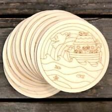 10x legno Noah's Ark e inondazioni cristiana immagine DISCHI Craft Forma 3mm Ply