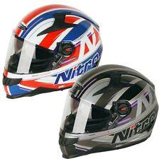 NITRO STERLING DVS N2200 MOTORCYCLE ROAD CRASH UNION JACK FULL FACE HELMET