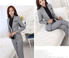 Tailleur completo donna grigio giacca a manica lunga e pantalone cod 7031