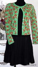 King Louie Strick-Jacke Kirsche grün cherry Cardi Roundneck Stella spring-green