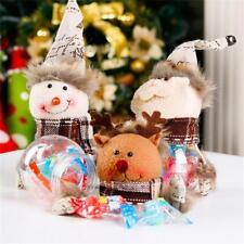 De Noël Party Decor Elk Santa Noël Boîte De Rangement Bouteille De Bonbons