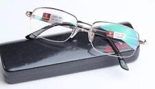 Quality Men Gold Half Frame Dual Function Bifocal Reading Glasses Eyeglasses New