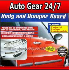 E-Tech BLACK Car Door Body Bumper Guard Protective Rubber Moulding Strip + Caps