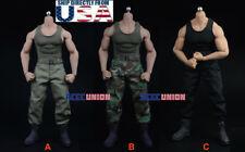 1/6 Combat Tank Top Pants Set For PHICEN M33 M34 M35 Hot Toys Muscular Figure