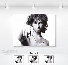 Jim Morrison - 9 - Quadro stampa su Tela Pelle Canvas Dipinto Arte Moderna