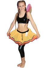 Ladies Girls Butterfly TuTu Skirt With Bow Trim Fairy Rainbow Clown Fancy Dress