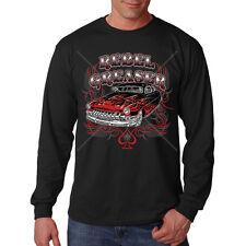 Rebel Greaser Old School Classic Hot Rat Rod Car Auto Long Sleeve T-Shirt