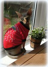 Camiseta de luz para un gato SPHYNX CAT, ropa, Gato Top, jumper de gato, Suéter De Mascotas