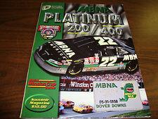 Dover Downs-Platinum 200/400 Souvenir Magazine-With Track Ticket-1998