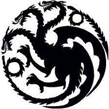 p512 Juego de Tronos Targaryen Pegatina Vinilo Sticker Adhesivo Coche Moto Logo