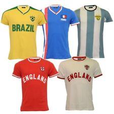 Hombre Copa Del Mundo Camiseta Brave Soul Inglaterra BRASIL Francia argentina