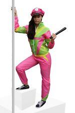 80er Jahre Kostüm für Damen Trainingsanzug Polizistin Polizei JGA Nerd Gr. S-XXL