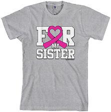 Threadrock Men's For My Sister Breast Cancer Awareness T-shirt
