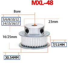 MXL Timing Belt Pulley 48 Teeth BF-type for 6mm 10mm Belt Reprap 3D Printer CNC