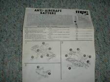 MPC 1/72 Anti Aircraft Battery  Instructions
