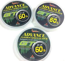 EUPRO GT FLUOROCARBON 15lb - 100lb LEADER LINE - 25 YARD SPOOL - CLEAR