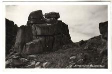 The Logan Rock - Cornwall Real Photo Postcard c1920