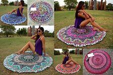 Round Indian Tapestry Beach Throw Roundie Mandala Meditation Yoga Mat Bohemian
