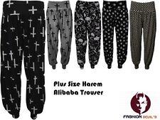 NUOVO Harem Croce Teschio Donna Pantaloni Lunghi COMPLETO Baggy Pants Alibaba Plus Size