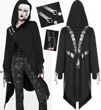 Veste capuche asymétrique gothique punk lolita bande métal laçage cuir Punkrave
