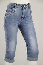 Karostar Capri Jeans Hose Classic Stretch Bermuda Baggy Blau Shorts Übergrösse