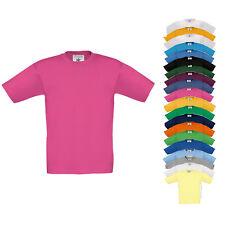 B&C Kinder T-Shirt EXACT 150 KIDS Kurzarm Rundhals Einfarbig Neu TK300