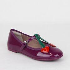 6dd42e04dbbf8 Gucci Girl Children s Purple Patent Leather Ballet Flats w Hearts 433119  5281