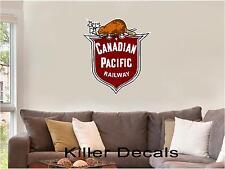 "12"" CP CANADIAN PACIFIC CP-101 RAILROAD LOGO DECAL TRAIN STICKER WALL OR WINDOW"