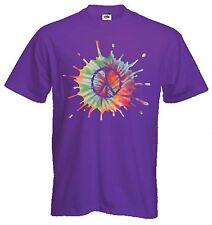 CND Psicodélico Símbolo de Paz Camiseta-nuclear Hippy 1960s-Elección De Colores