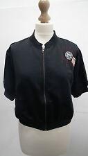BN Asos Black Journey Short Sleeved Baseball Crop Jacket