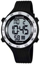 Calypso Herrenuhr Quarz Kunststoff mit PU-Band Alarm-Chrono digital alle K5663