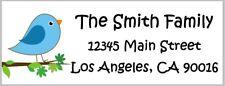 30 Personalized Address Labels - Birds - Owl - Birdhouse - Butterfly - Sun
