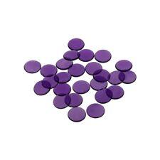 Game chips - 16 mm - purple - transparent