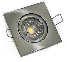 Bad-Strahler DIMMBAR Einbauleuchten Quajo K92155 GU10 230V IP20 rostfrei 5W=50W