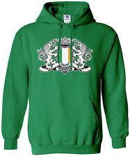 Threadrock Men's Ireland Lion Crest Flag Hoodie Sweatshirt Irish Flag
