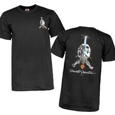 Powell Peralta Skull And Sword Classic T-Shirt BLACK Mens New Skateboard M L XL