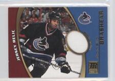 2001-02 Topps Reserve Game-Worn Jerseys TR-DoB Donald Brashear Vancouver Canucks