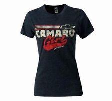 LADIES CAMARO T-SHIRT BLUE CAMARO GIRL CHEVY PRIDE S-XL 23.99+2XL FS NEW