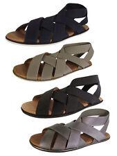Gentle Souls Womens Bari Elastic Strap Flat Sandal Shoes