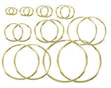ECHT GOLD *** 1 Paar Rohr-Creolen  Ø 9- 11- 13- 15- 20- 25- 30- 40- 50- 60 mm