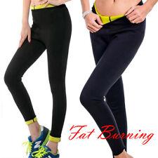 Hot Women Neoprene Shaper Slimming Waist Belt Yoga Long Pants Trousers S-3XL UK