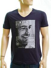 Tee shirt GEORGE CLOONEY IDOLS MAGAZINES homme bleu marine navy