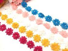 Shabby Chic Chiffon/Fabric Flower Ribbon Lace Trim For Tutus Bridal wear Dresses