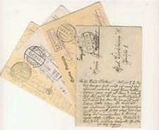 4 Feldpostkarten 1914-1917 mit Nebenstempeln (B00081)