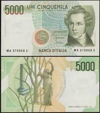 5000 LIRE BELLINI A 31/1/1985 FDS/UNC FIOR DI STAMPA