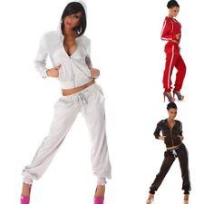 Ladies sport Tracksuit 2-Piece Hoodies Jacket sport Trousers Sizes UK 6 8 10