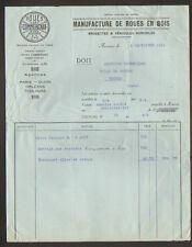 """AUXERRE (89) USINE de ROUES en BOIS """"COMMERGNAT"""" en 1934"""